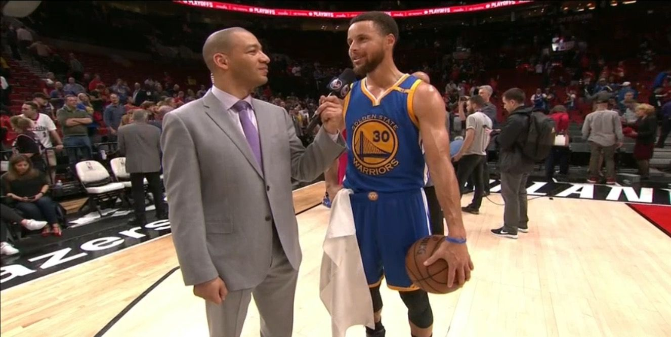 Warriors Storm Back to Beat Blazers in Game 3 Golden State Leads Series 3-0  PORTLAND - Apr 22, 2017 After trailing by as many as 16, Warriors came back to earn a 119-113 road victory over Trail Blazers Saturday. Stephen Curry led all scorers with 34 points. Klay Thompson had 24, Draymond Green 9 points, 8 rebounds, 7 assists and 6 blocks and Andre Iguodala finished with 16 points, 7 rebounds.