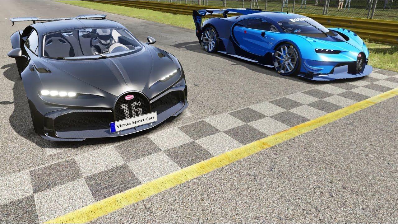 Bugatti Chiron Pur Sport vs Bugatti Vision GT Round 2 at Monza Full Course