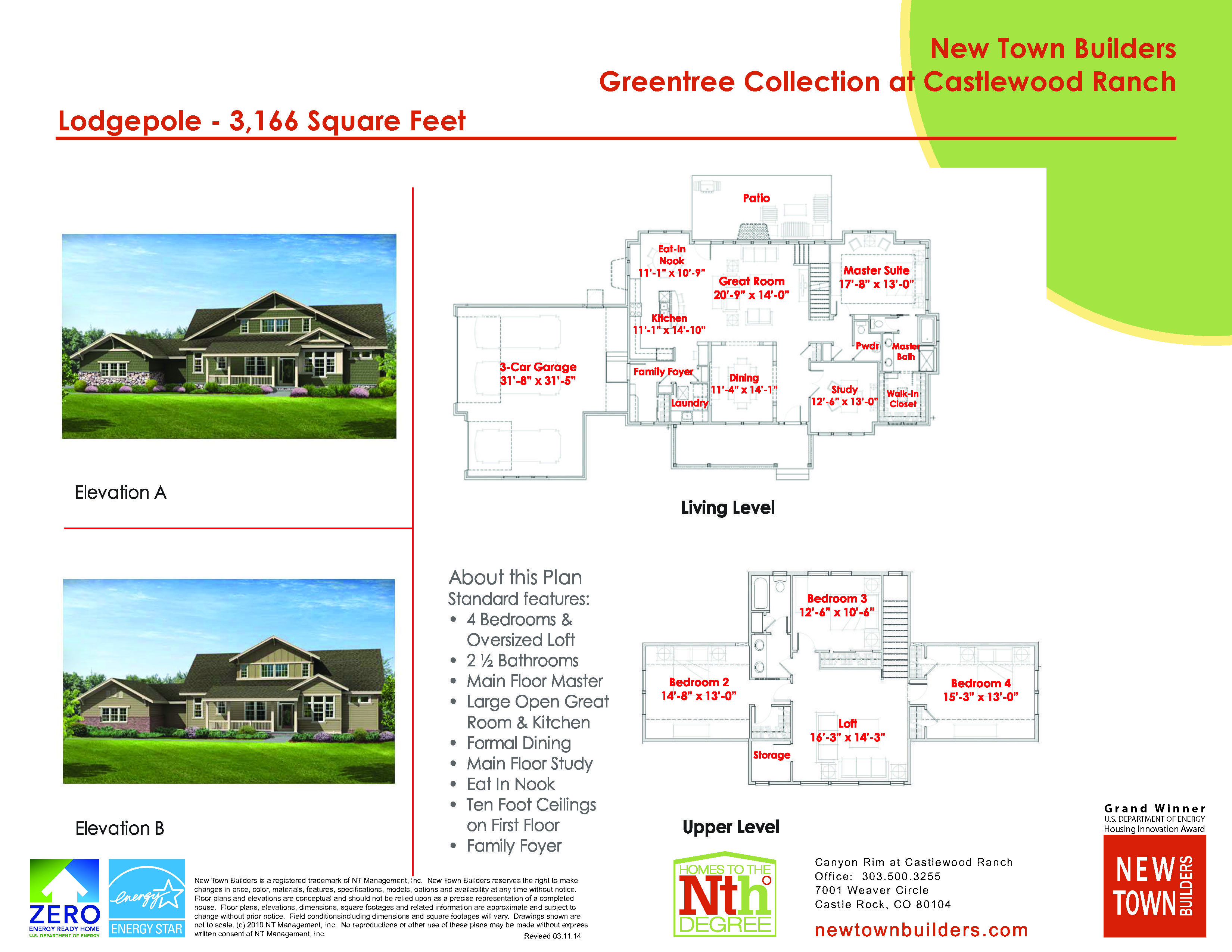 6 star master bedroom  New Town Builders in Castlewood Ranch Two Story Floor Plan for the