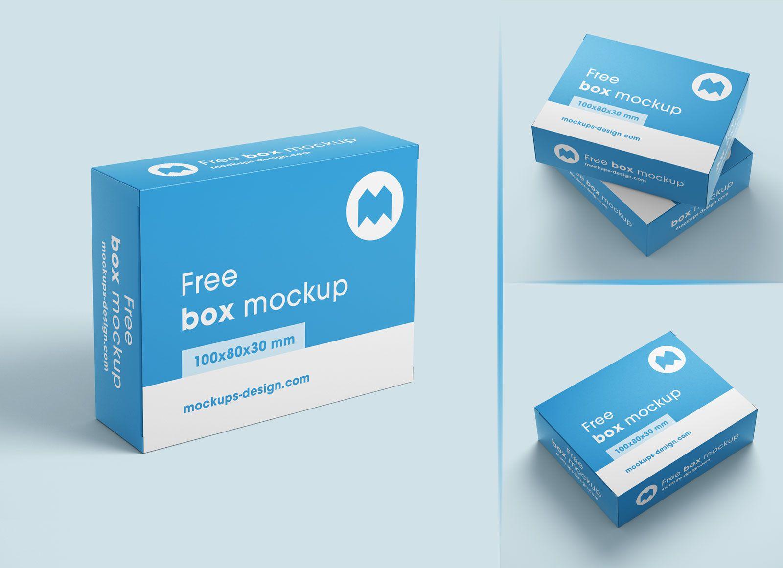 Free Box Packaging Mockup Psd Set Packaging Mockup Medicine Box Design Free Boxes