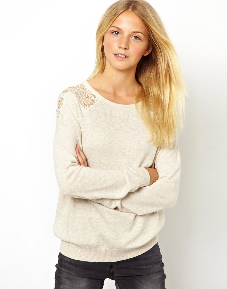 Lace Inserts Sweater
