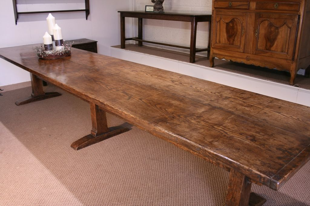 Introducing Late 17th Century Style Ash Trestle Table, Made From 2 Stunning  Well Figured Planks