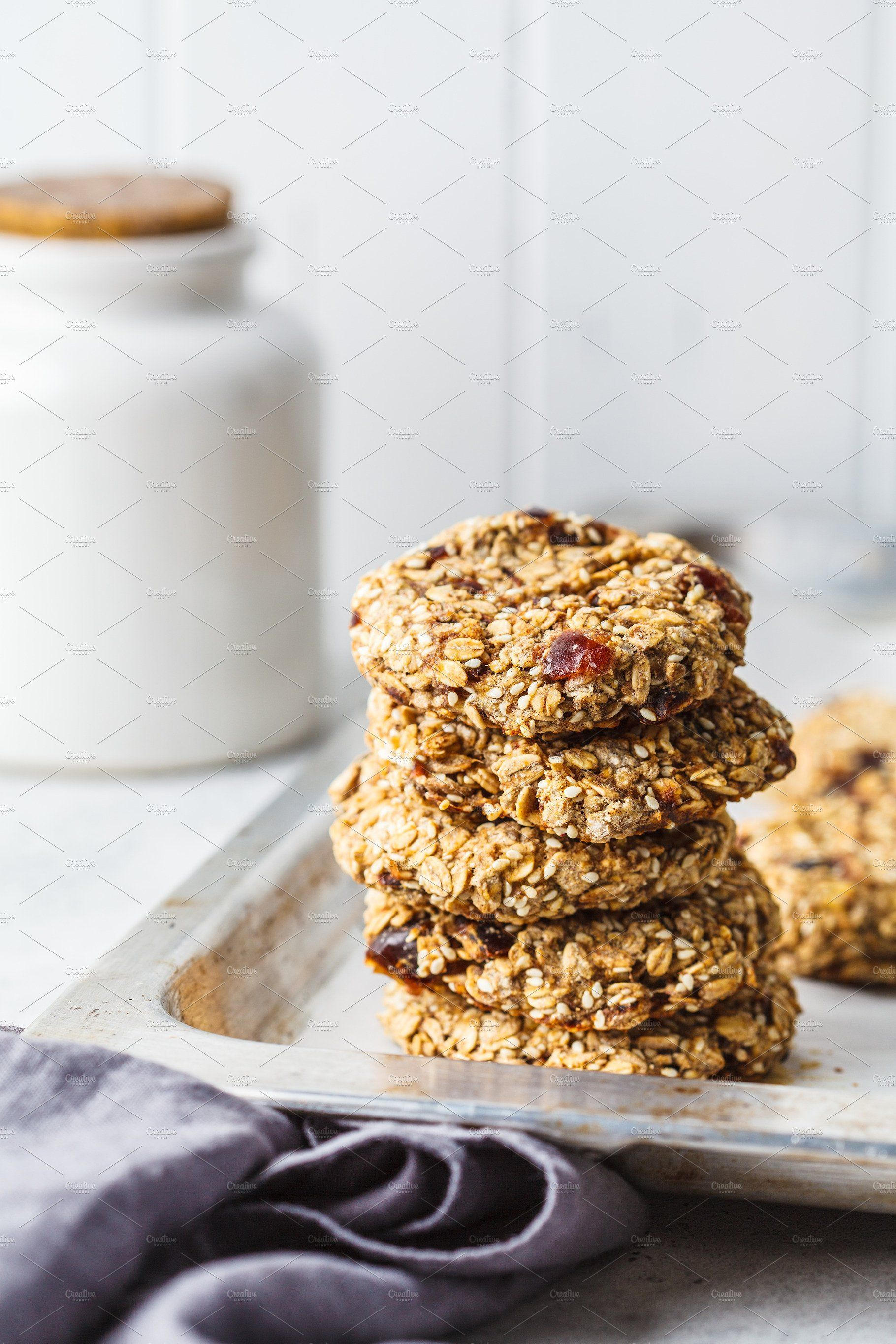 Stack Of Oatmeal Cookies With Dates Healthy Vegan Desserts Vegan Nutrition Food Shop