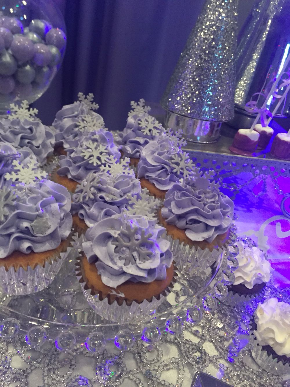 Snowflake Purple Cupcakes Lilac Baby Shower Baby Shower