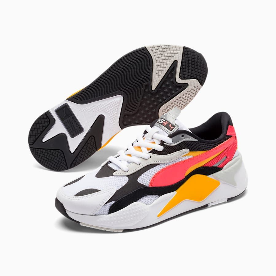 Photo of PUMA Rs-X Puzzle Trainers in White/Lava Blast size 10.5