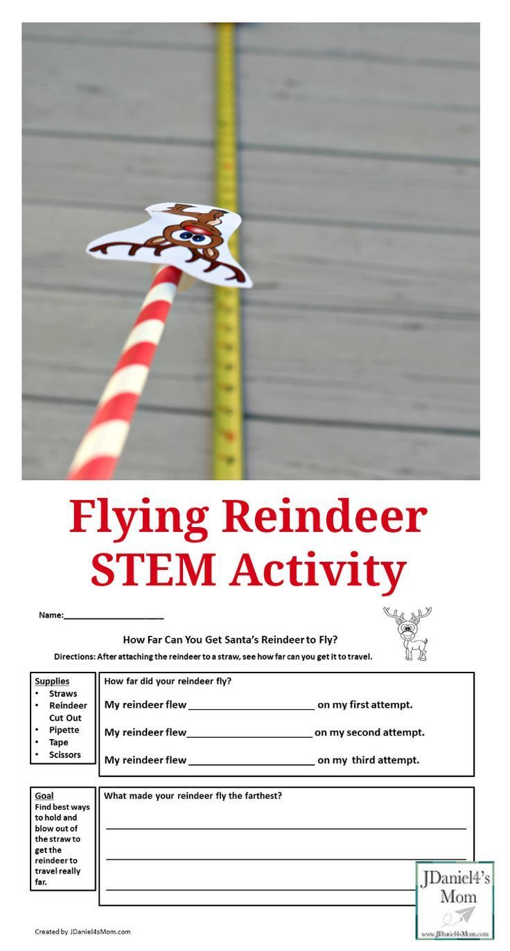 Flying Reindeer STEM Activity #stemactivitieselementary