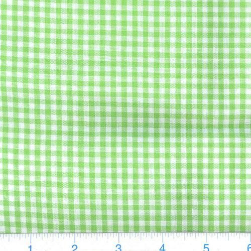 Kaufman 1/8'' Carolina Gingham Lime from @fabricdotcom  From Robert Kaufman Fabrics, this light weight woven yarn dyed gingham fabric is extremely versatile. It can be used to create stylish summer dresses, children's apparel and blouses. It can also be used to make tablecloths, curtains and even handkerchiefs. Checks measure 1/8''.