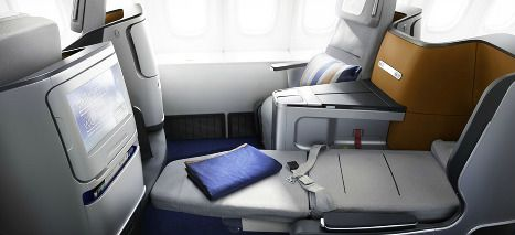 Name This Airline Currently This Seat Is Only Available On The New Boeing 747 800 Flying Between L A Business Class Flight Business Class Seats Business Class