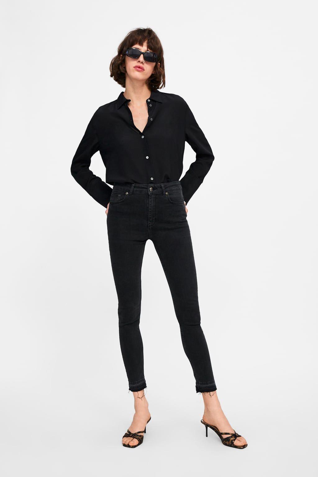 36aeac3e88 Zw premium high waist lead black jeans in 2019 | professionnelles ...