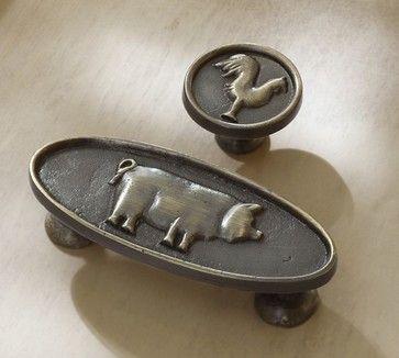 farm animal drawer pulls farmhouse hardware pig decor pottery barn on farmhouse kitchen hardware id=71524