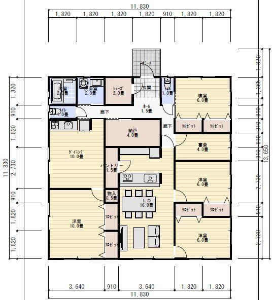 間取り図 平屋 6ldk 二世帯住宅 間取り 二世帯間取り 二世帯