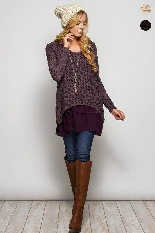 Double Layer Sweater | Layering, Clothes and Tunics