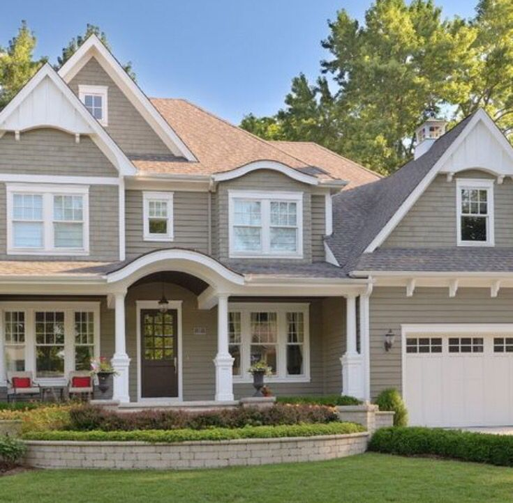 Siding Color With Our Roof Exterior Gray Paint House Paint Exterior Exterior House Colors