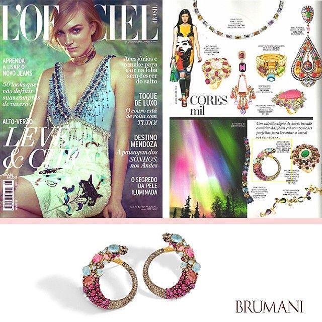 BRUMANI at L'Officiel Magazine! @brumanijewelry @marianaamaralcomunicacao #brumanijewelry #brumani #baobab #ruby #tourmaline #earring #gold #aquamarine #trend #glamour #freshfrombrazil