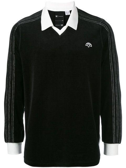 Adidas Originals By Alexander Wang Velour Logo Polo Top