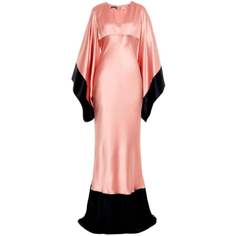 c17d82e4382b Alexander McQueen Kimono-sleeve Silk-satin Gown 1   Love These ...