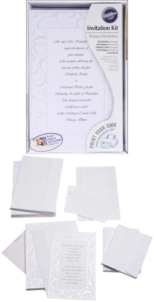 Wilton Elegant Swirls Wedding Invitation Kit Kits