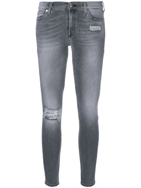 7 FOR ALL MANKIND sequin patch skinny jeans. #7forallmankind #cloth #