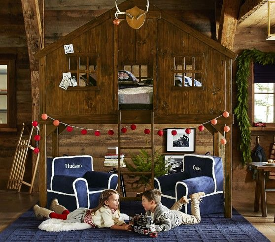 Kids Bedroom Tree House treehouse loft bed | pottery barn kids just don't put the