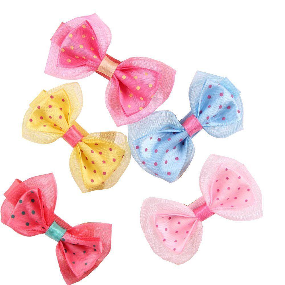 Seeko pcs childrenus hair accessories princess lace dot bow hairpin