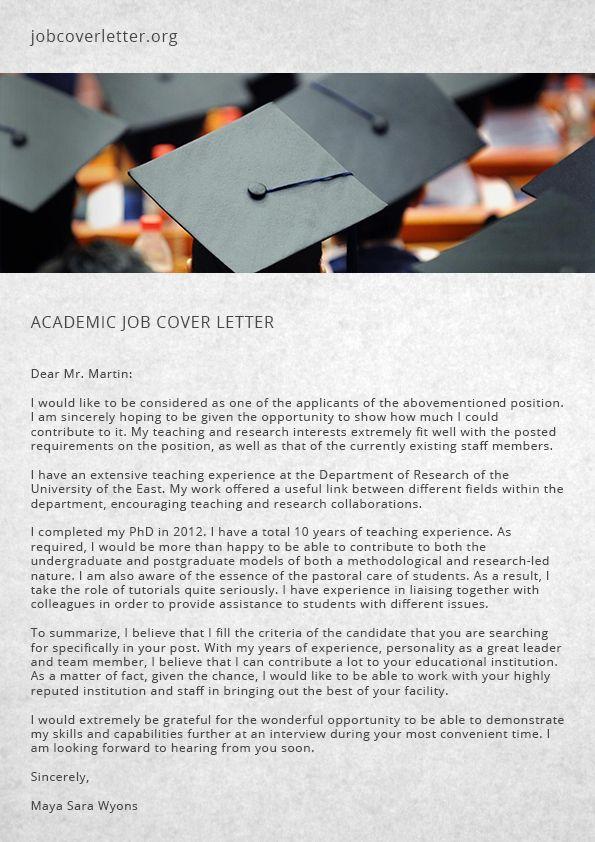 Academic Job Cover Letter Tips | Job Cover Letter | Job Cover