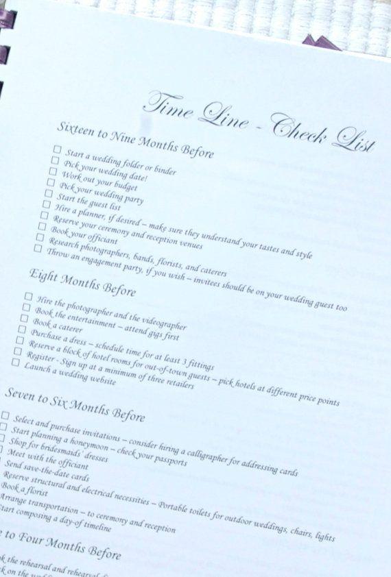 Printable Wedding Planner and Organizer - templates, checklists
