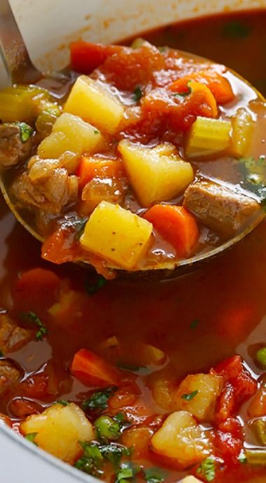 Vegetable Beef Soup #soupandsalad