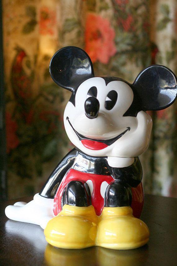 Disney Cookie Jar Etsy >> Mickey Mouse Treasure Craft Cookie Jar Vintage Cookie Jars
