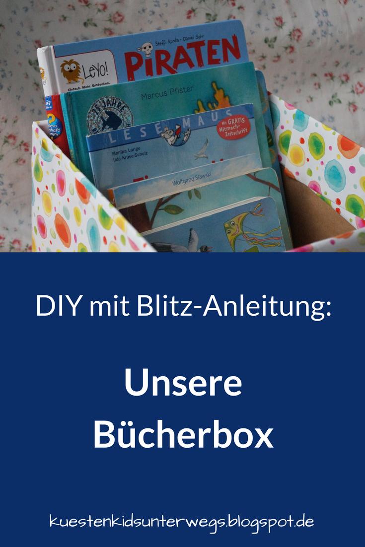 DIY: Bücherbox Aus Windelkarton Basteln (Eine Einfache Idee). Ihr Wollt  Ordnung In