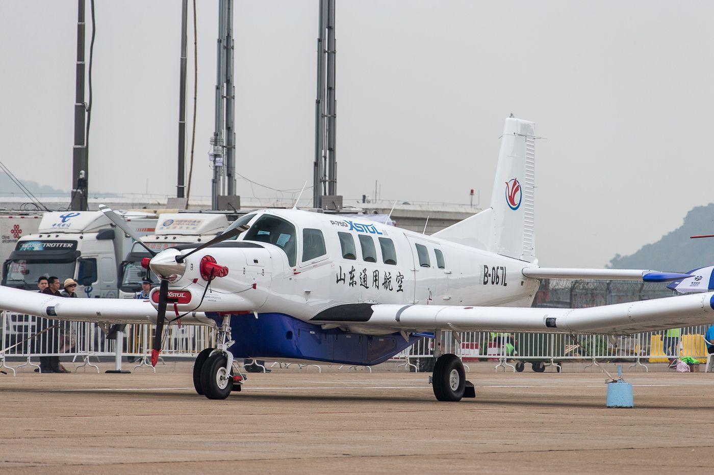 China airshow-2014:самолет для парашютистов PAC P-750 XSTOL