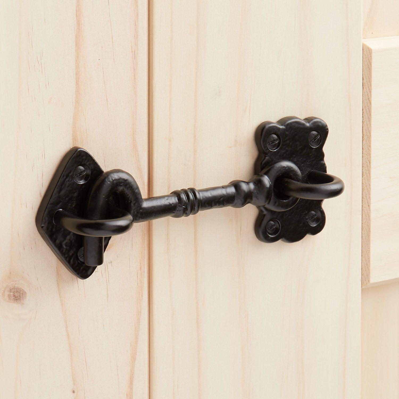 Hand Forged Iron Cabin Door Hook Latch Door Hooks Hand Forged Iron Cabin Doors