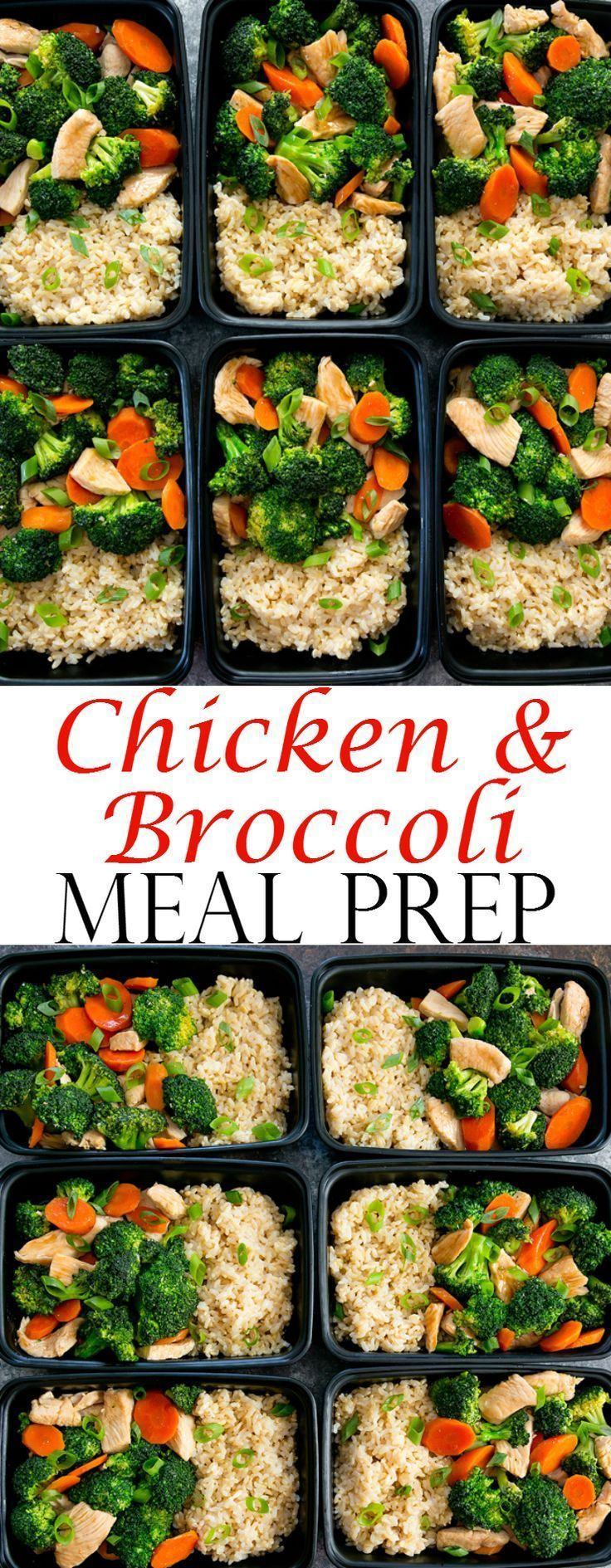 Photo of Chicken and broccoli stir fry meal prep. A simple meal that you …