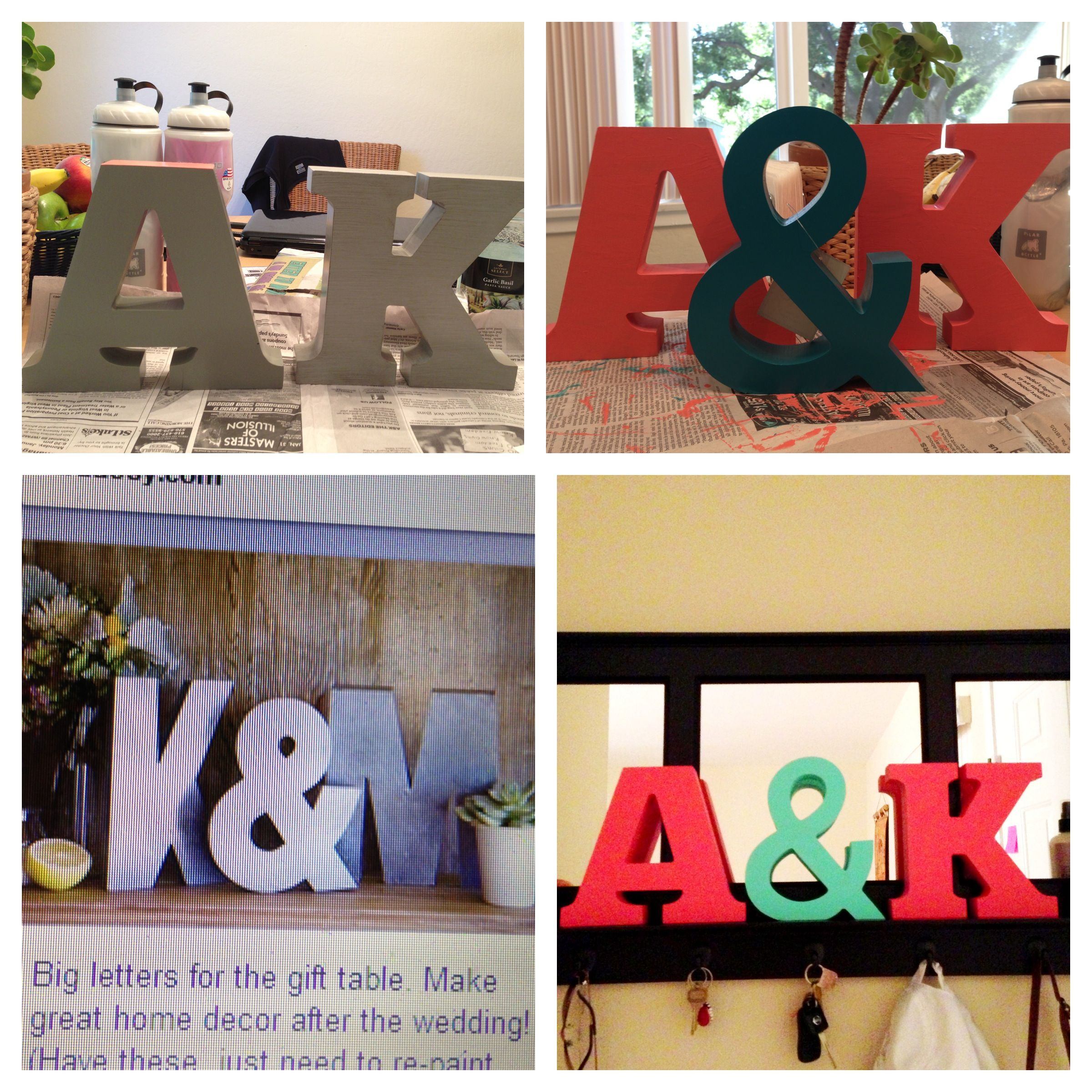 Coral and turquoise DIY wedding decor | Wedding ...
