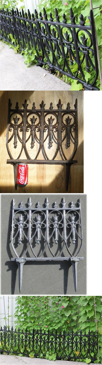 Other Garden Fencing 177033: Victorian Garden Fence Heavy Antique Style Old  English Lawn Edging Aluminum