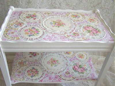 GORGEOUS 2 TIER MOSAIC TABLE