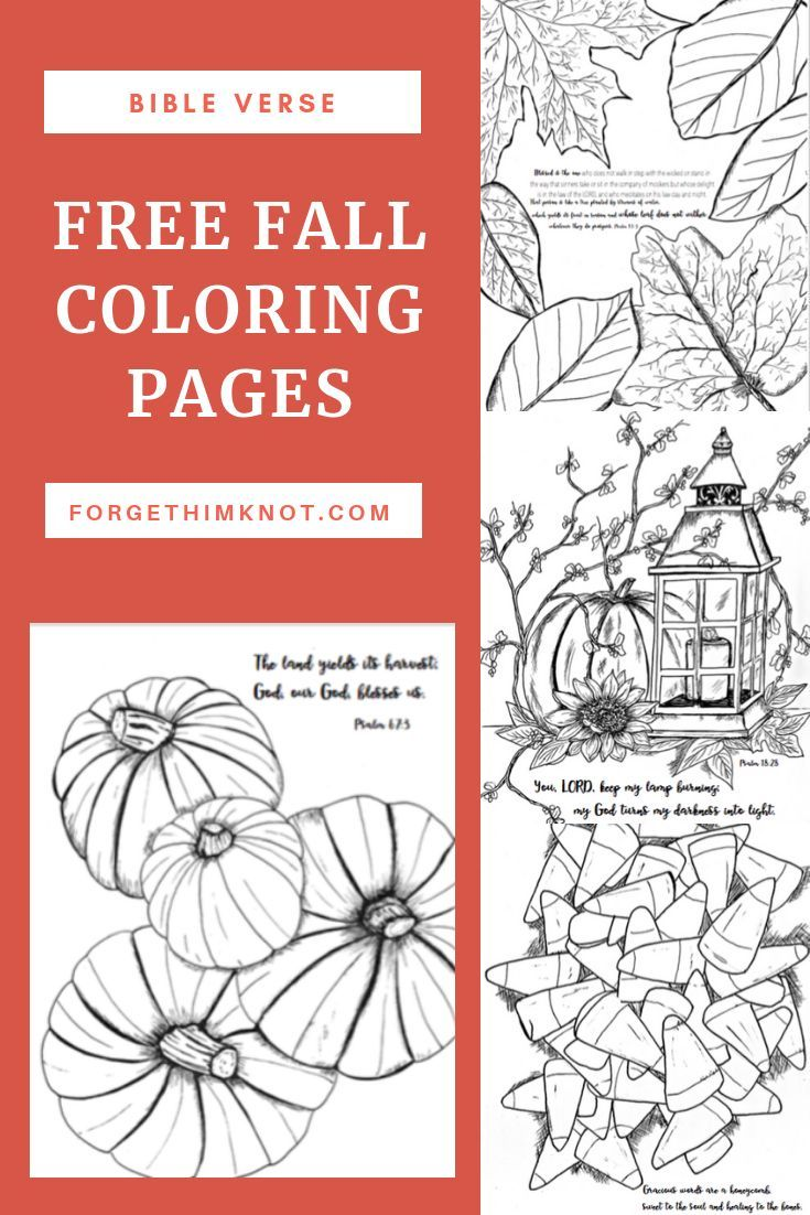 Freebie Library Bible verse coloring page, Fall coloring