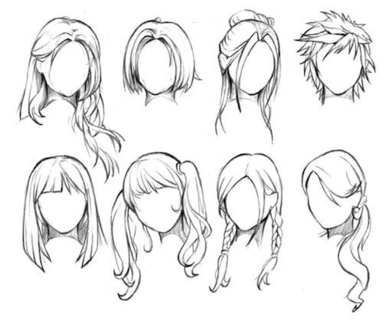 Mas Estilos De Peinados Para Dibujar More Hair Styles To Draw Manga Hair How To Draw Hair Female Anime Hairstyles