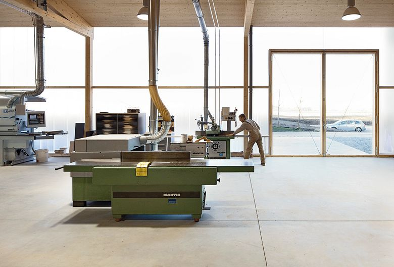 Deppisch Architekten Pulling Germany Joinery Near Freising Industrial Architecture Mass Timber Polycar Architecture Industrial Architecture Hall Design