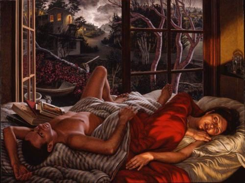 ..::F. SCOTT HESS::..  The Sleep of Trees  2000  oil on canvas  48 × 64 inches  11 pm in The Hours of the Day series.  Website: http://www.openmuseum.org/collection/show/104