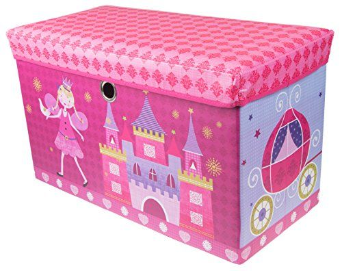 Toy Storage Ideas Fairytale Princess Castle Collapsible Storage Organizer By Clever Creations Storag Toy Storage Toy Storage Organization Toy Storage Boxes