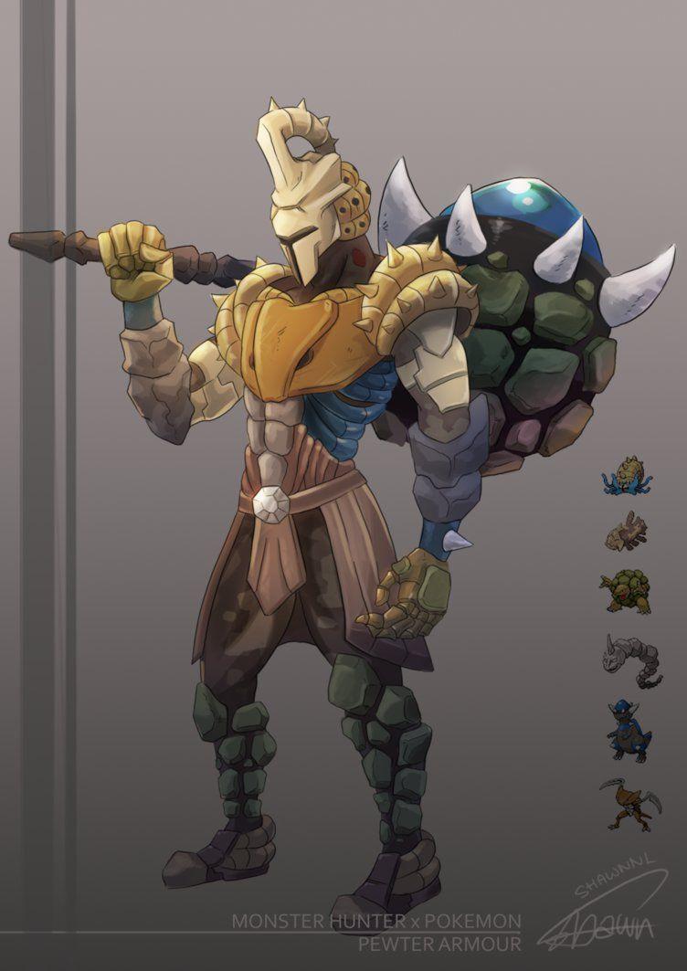 I Imagine Tyrantrum As Somewhat Like The Deviljho But With A Brute Tigrex Like Behavior So Tyrantrum Doesn T Have Any Pokemon Armor Concept Pokemon Crossover