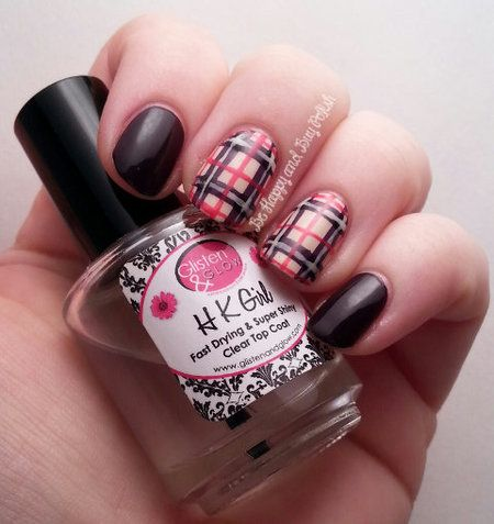 Plaid Nails #plaid #black #red  #nails #nailart #nailpolish #naillacquer #polishaddict - bellashoot.com #partynails #holidaynails