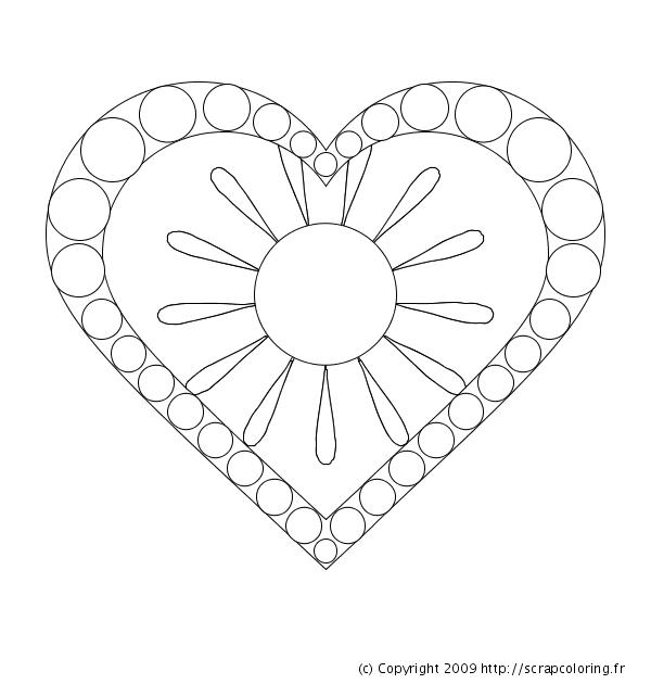 Coloriage Mandala Coeur à colorier - Dessin à imprimer | Hearts ...