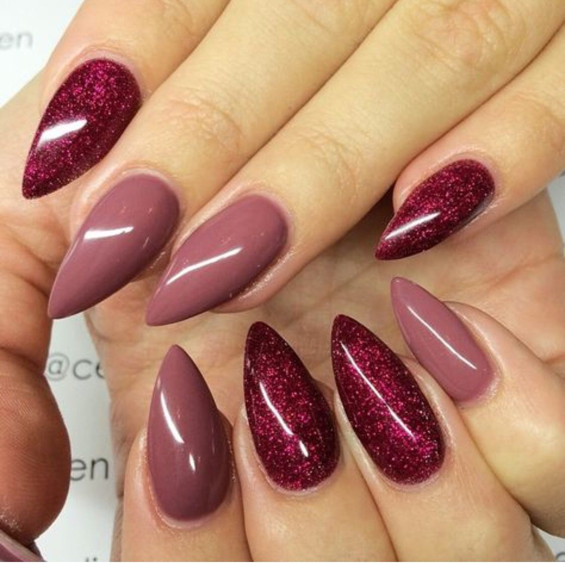 Mauve and maroon nails pinterest mauve nails nail art and manicure image on we heart it prinsesfo Image collections