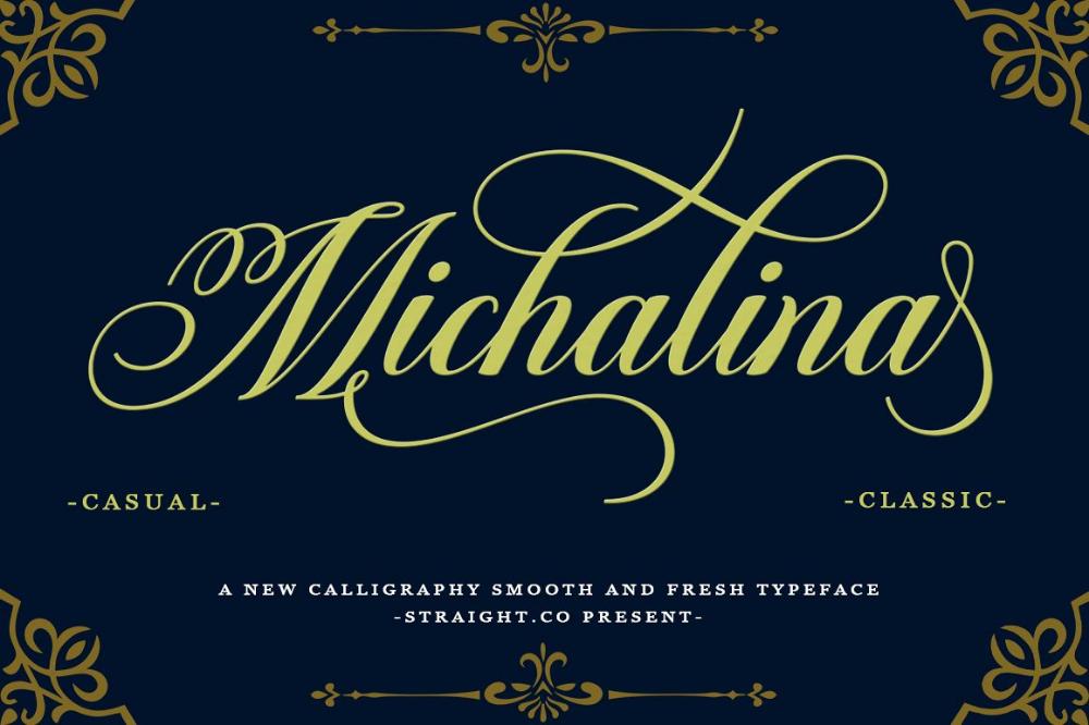 Michalina Script fonts, Lettering fonts, New fonts