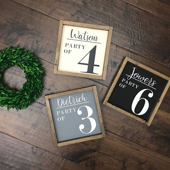 Family Name Party of Sign   Wood Sign   Family Name Sign   Farmhouse Style   Farmhouse Decor   Farmhouse Sign   Family Number Sign   Fixer U is part of decor Styles Names - basecolorupgrade ref shop home active 2