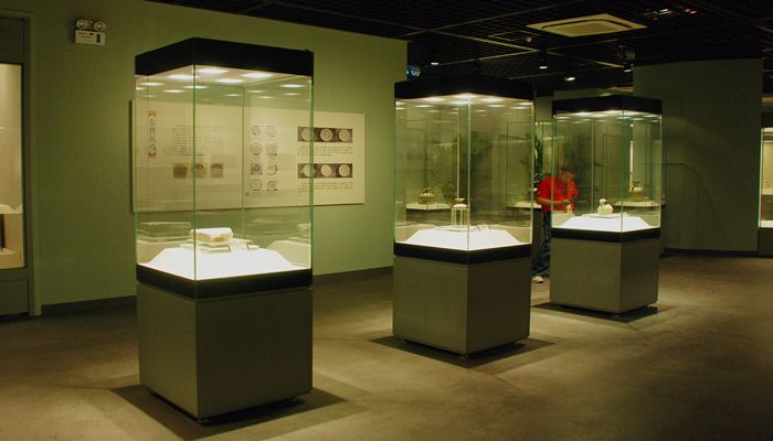 Exhibition Display Cases : Wangda museum showcases glass sides freestanding case
