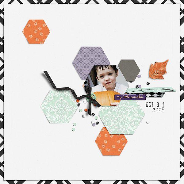 Hexagons No 3 Designed by Soco 31 by Sara Gleason and Amber LaBau