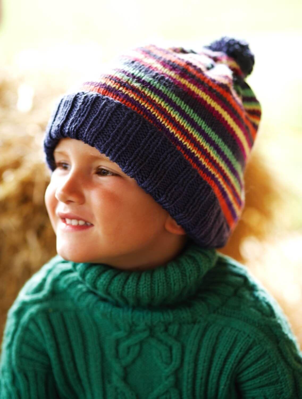 Ringelmütze Mit Bommel Für Kinder Div Strickmodelle Pinterest