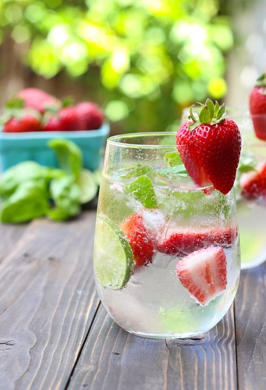 Strawberry Basil Lime Coolers